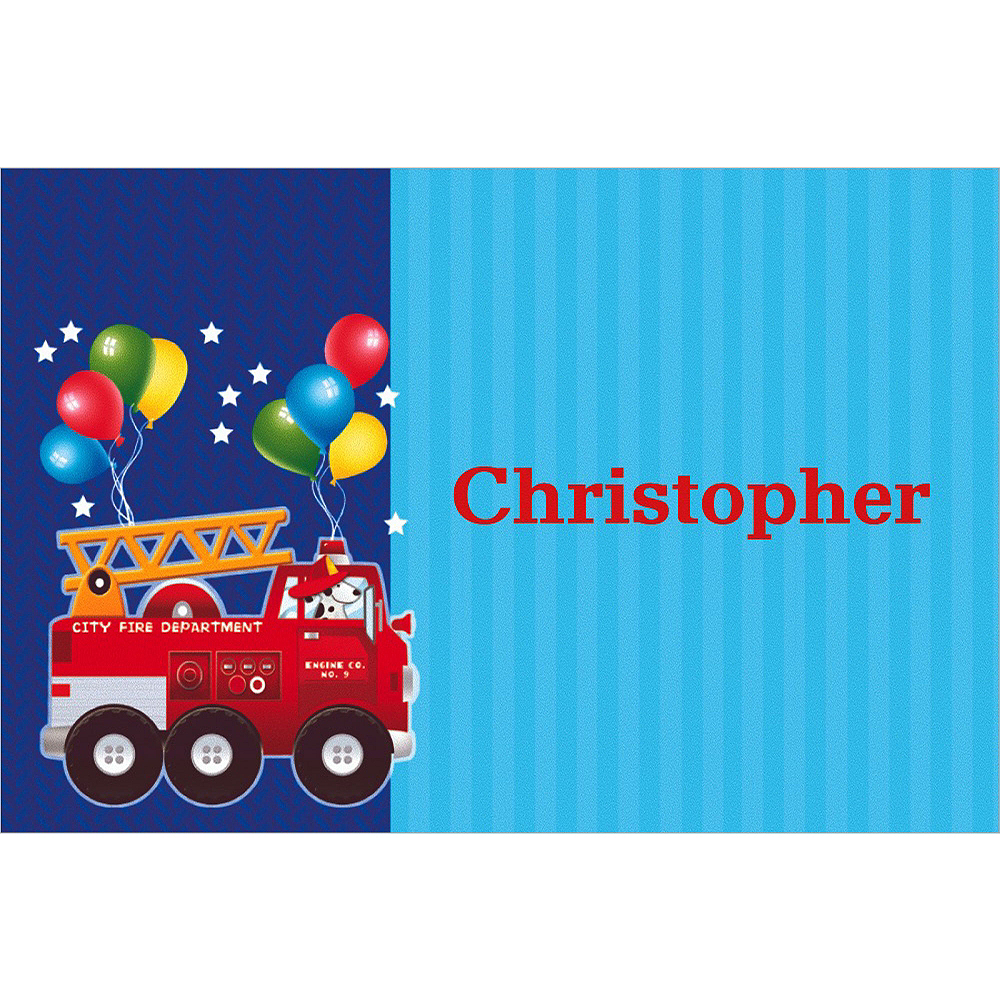 Custom Fire Engine Fun Thank You Notes  Image #1