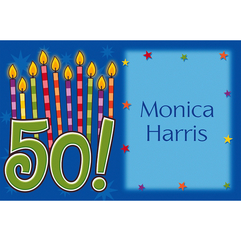 Custom Great Birthday 50th Thank You Notes Image #1