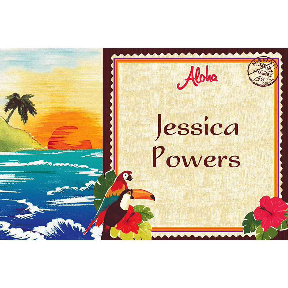 Custom Hawaiian Luau Thank You Notes  Image #1