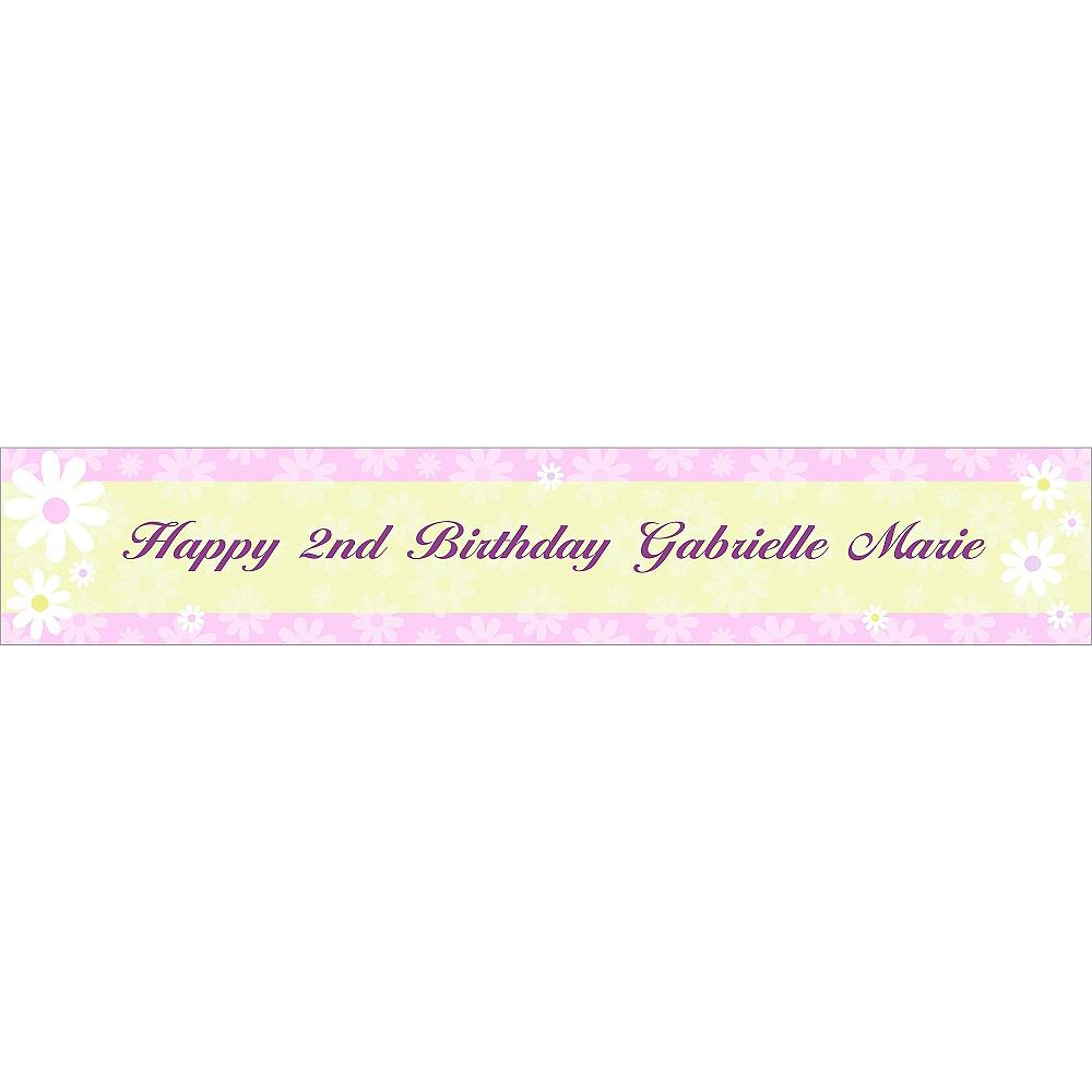 Custom Daisy Stripe Banner 6ft Image #1