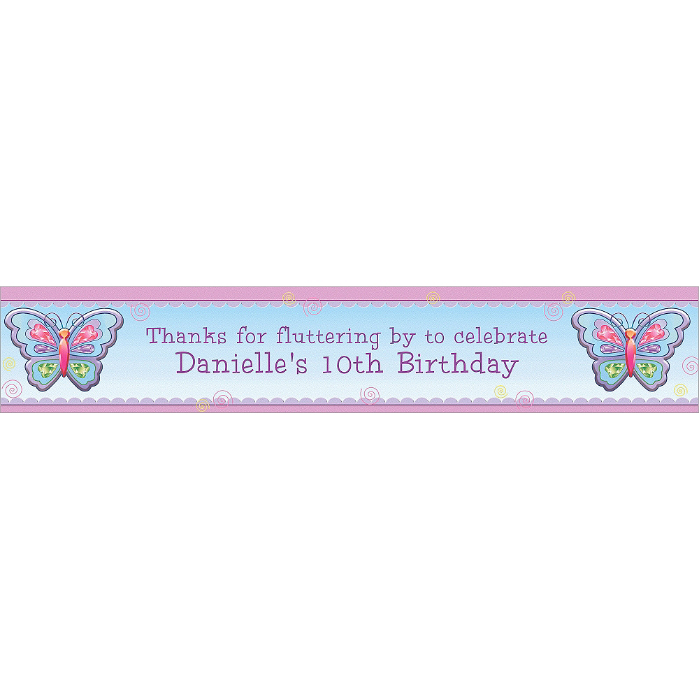 Nav Item for Custom Fluttering Butterfly Banner 6ft Image #1