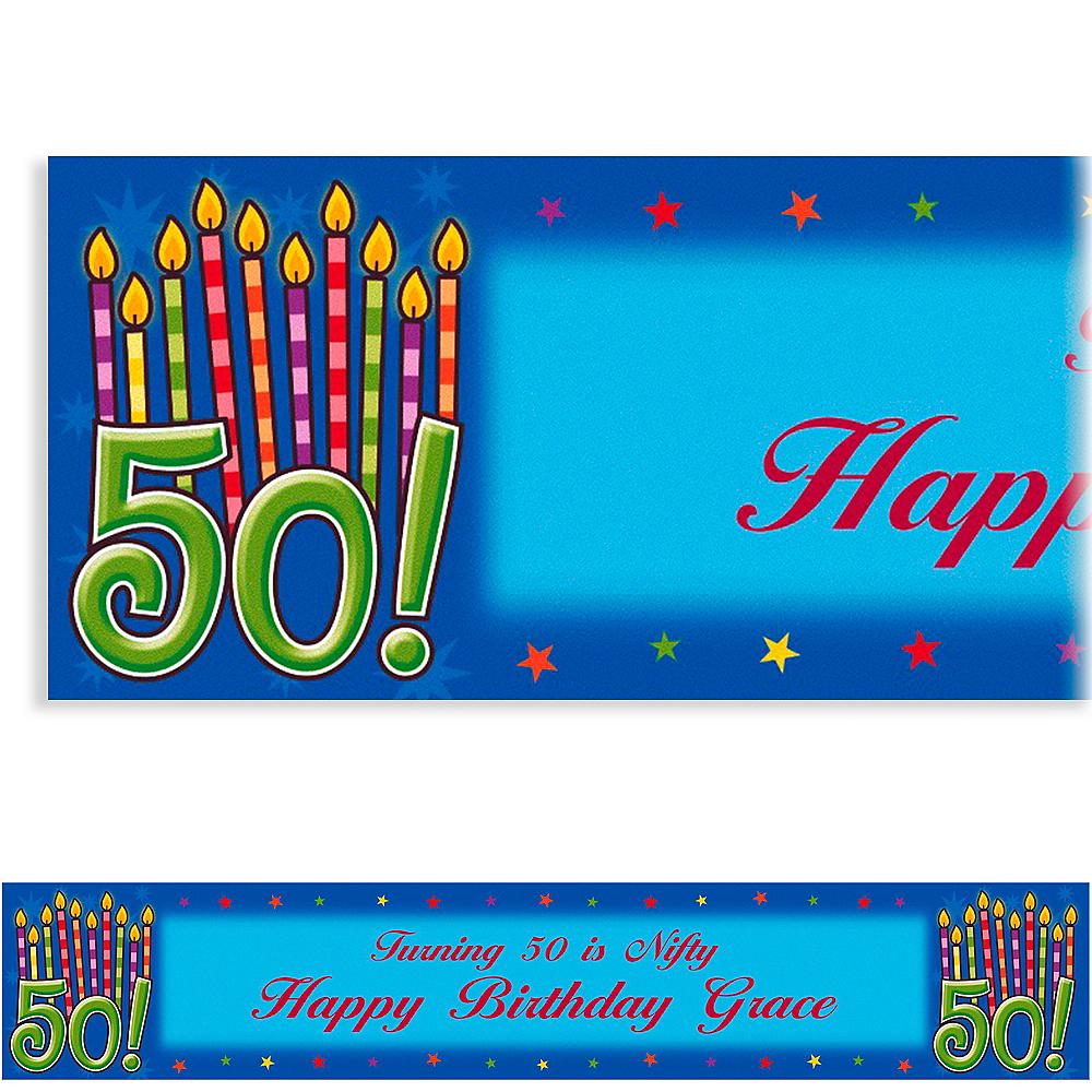 Custom Great Birthday 50th Banner 6ft Image #1