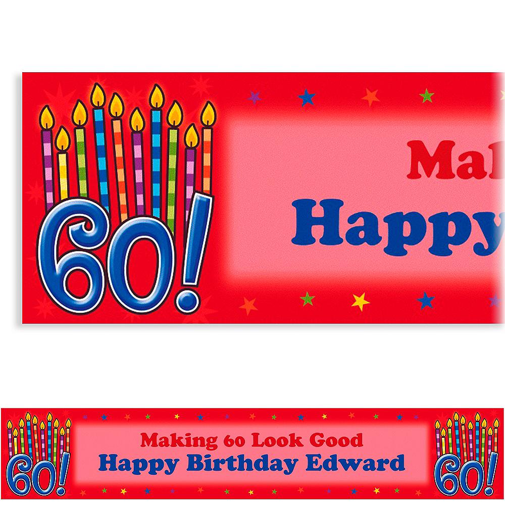 Custom Great Birthday 60th Banner 6ft Image #1