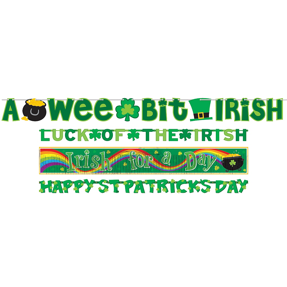 Nav Item for St. Patrick's Day Banners 4ct Image #1