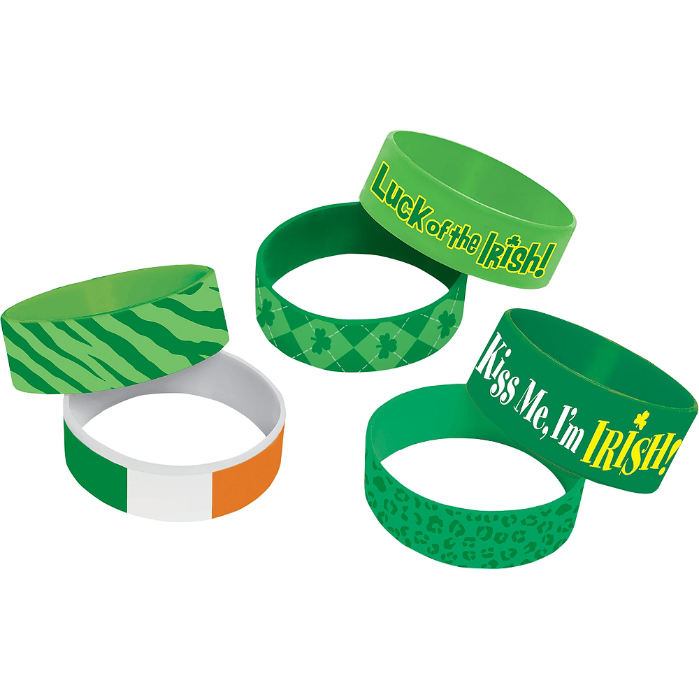 St. Patrick's Day Cuff Wristbands 6ct Image #1