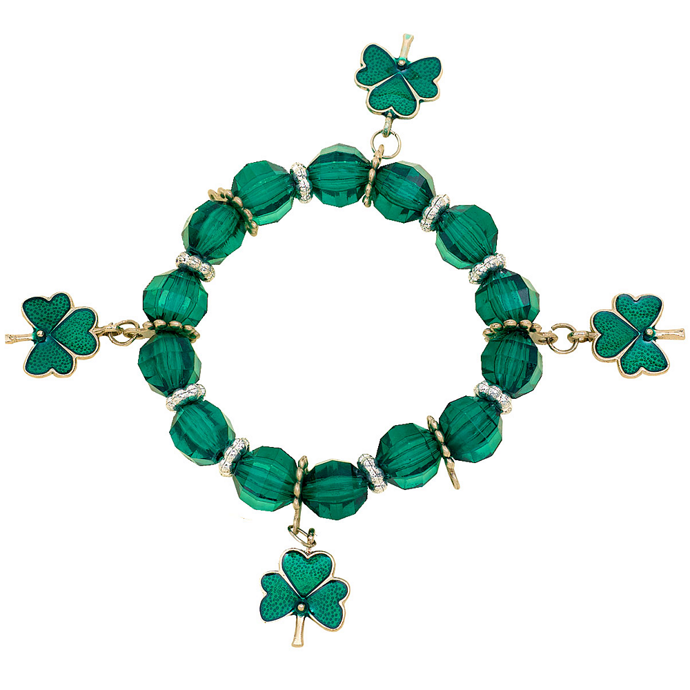 Nav Item for Stretch St. Patrick's Day Charm Bracelet Image #1
