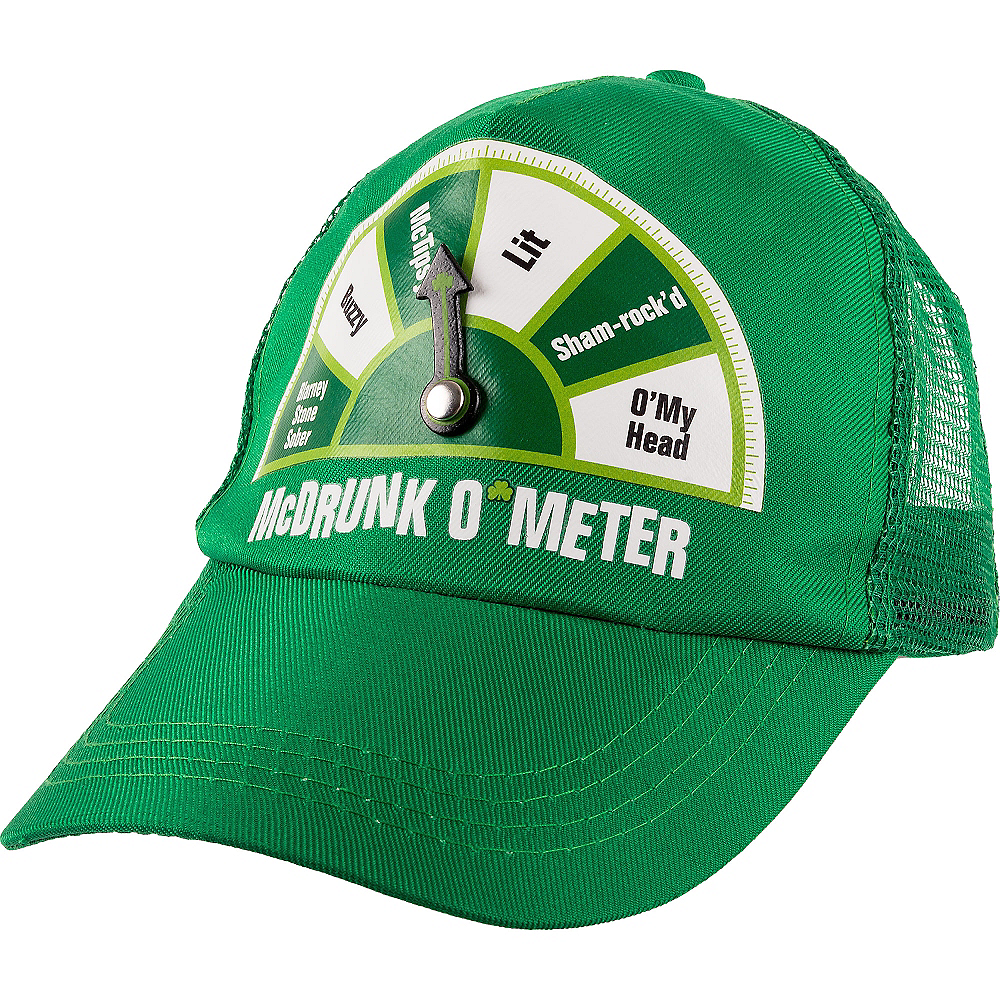 Nav Item for McDrunk O'Meter St. Patrick's Day Trucker Hat Image #1