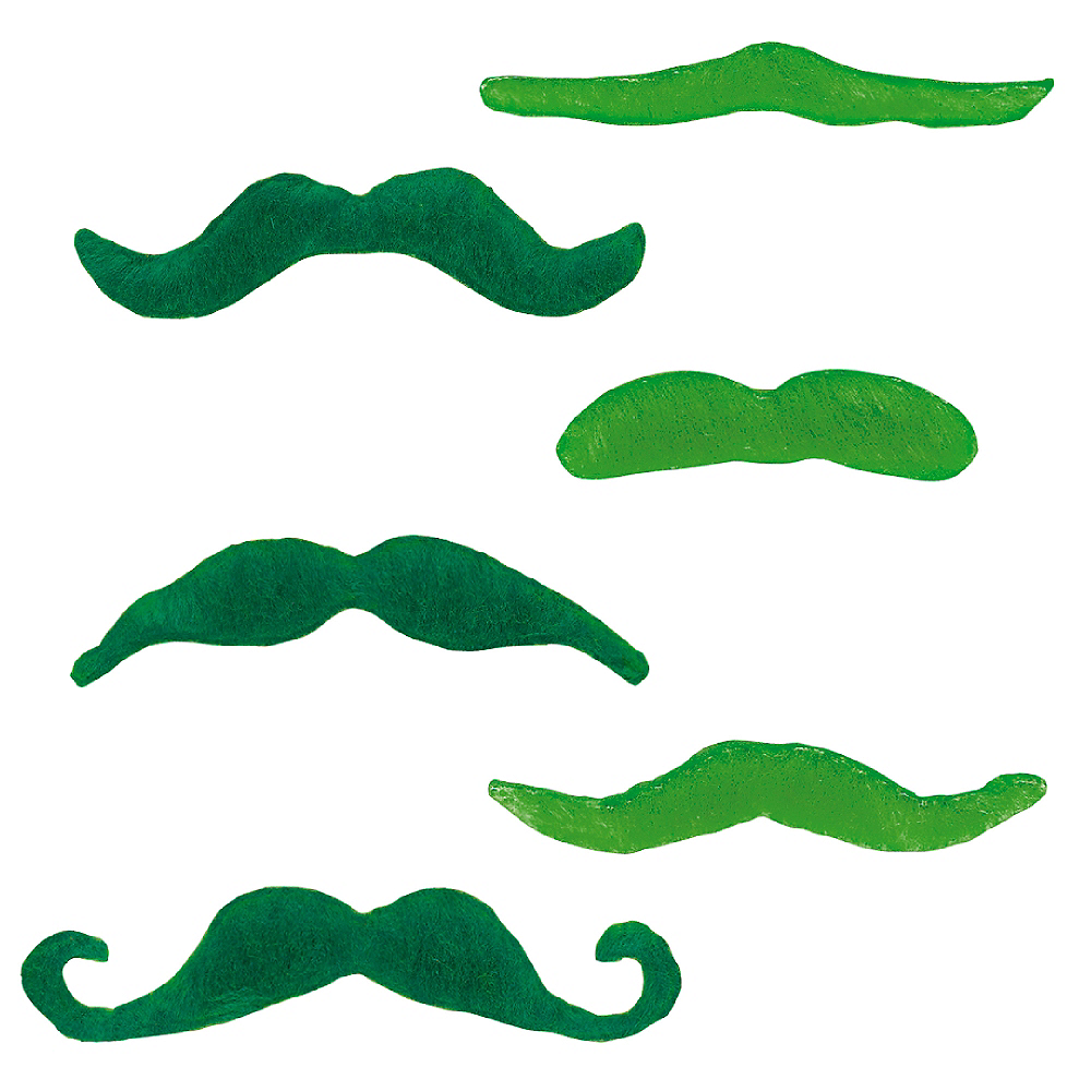 St. Patrick's Day Moustaches 6ct Image #1