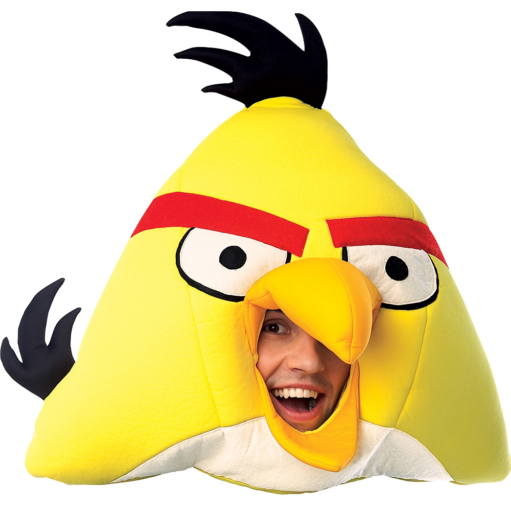 Deluxe Yellow Angry Birds Mask Image #1