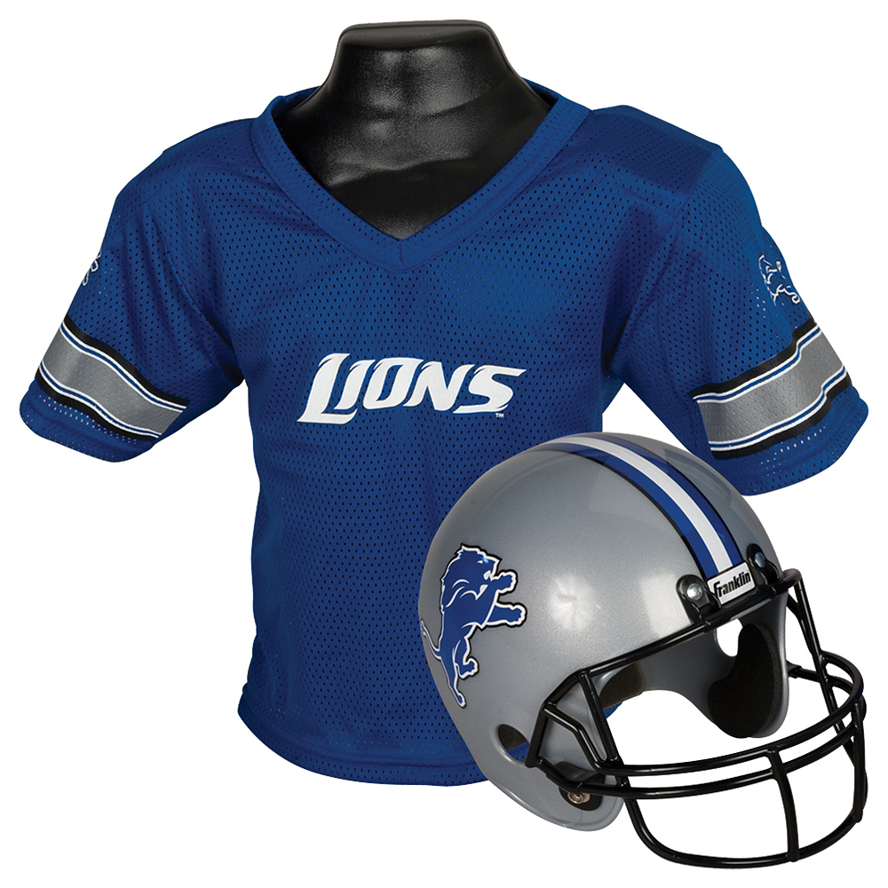 Child Detroit Lions Helmet & Jersey Set Image #1