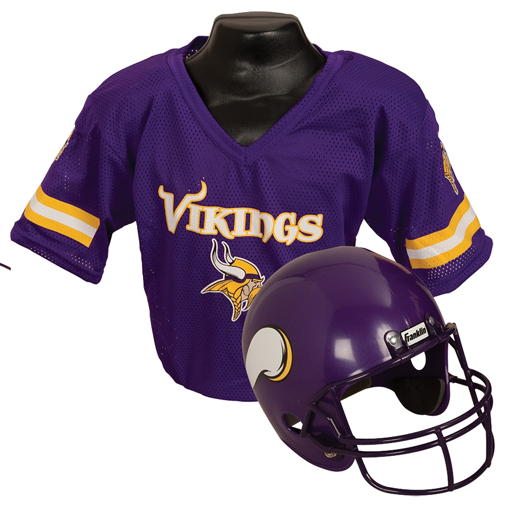 Child Minnesota Vikings Helmet & Jersey Set Image #1