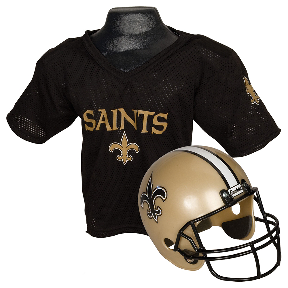 Child New Orleans Saints Helmet & Jersey Set Image #1