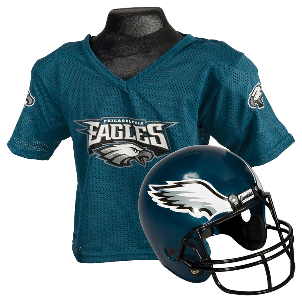 Nav Item for Child Philadelphia Eagles Helmet & Jersey Set Image #1