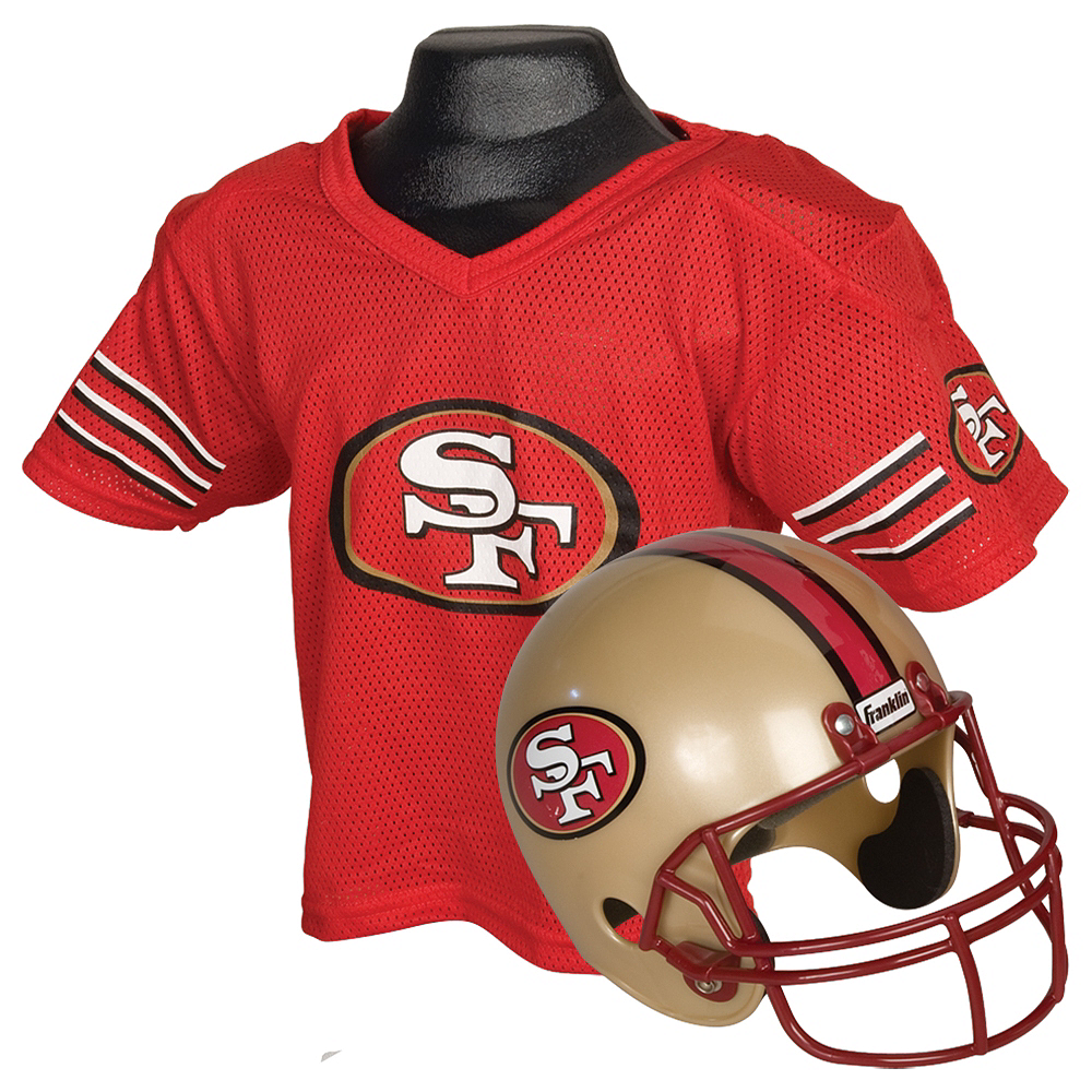 Child San Francisco 49ers Helmet & Jersey Set Image #1