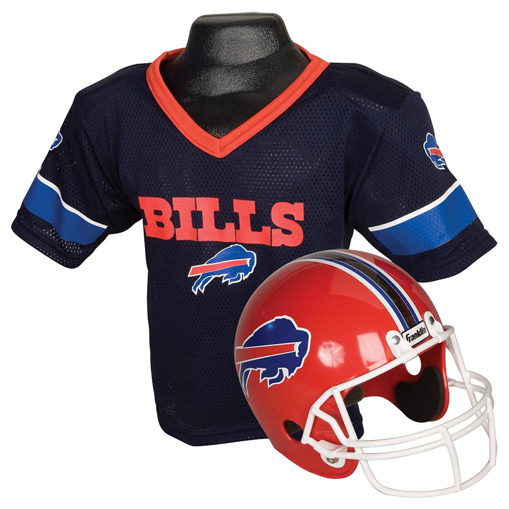 Child Buffalo Bills Helmet & Jersey Set Image #1