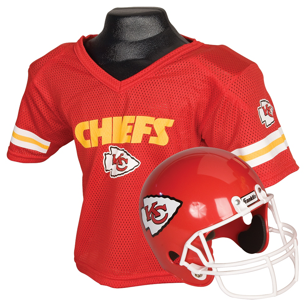 Nav Item for Child Kansas City Chiefs Helmet & Jersey Set Image #1