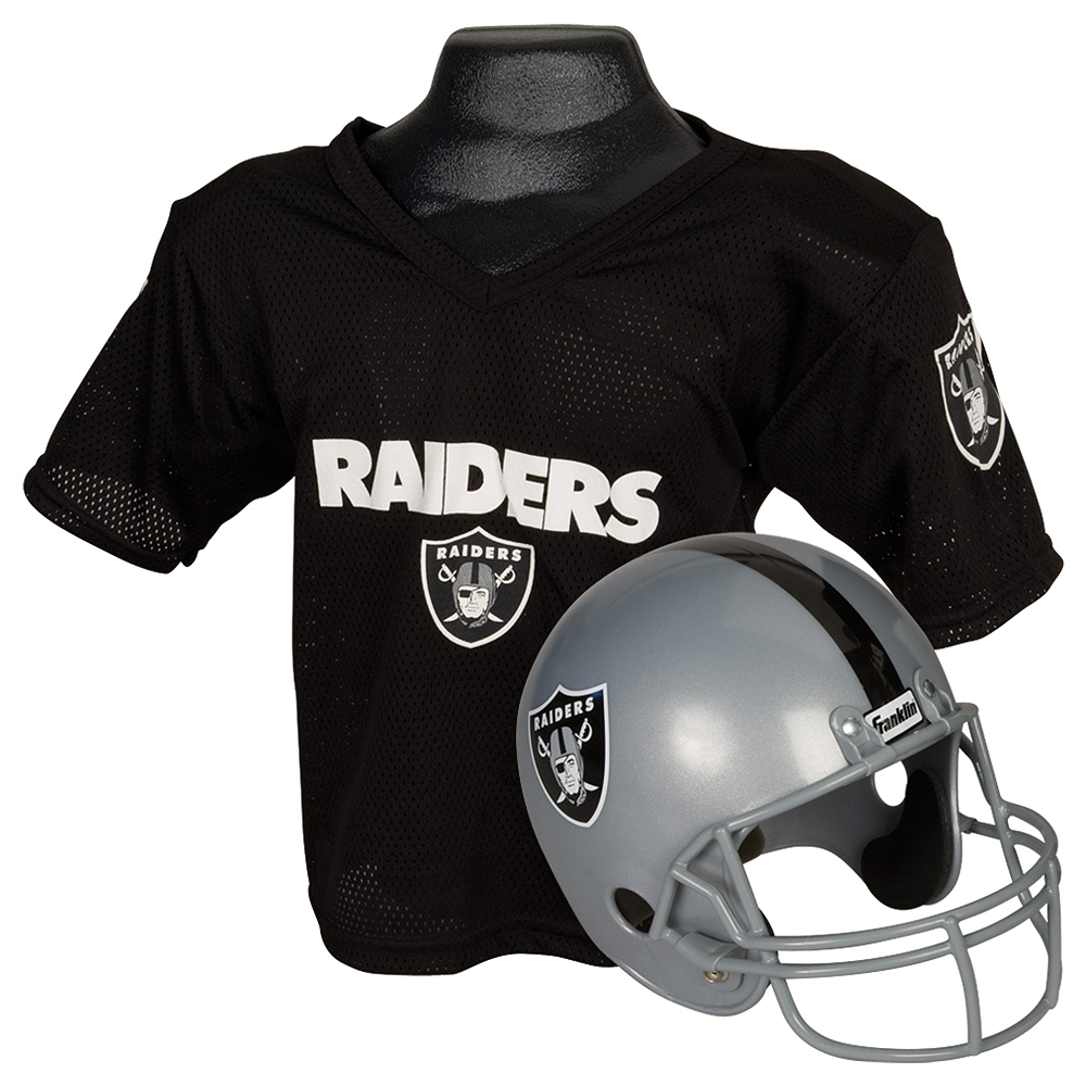 Child Oakland Raiders Helmet & Jersey Set Image #1