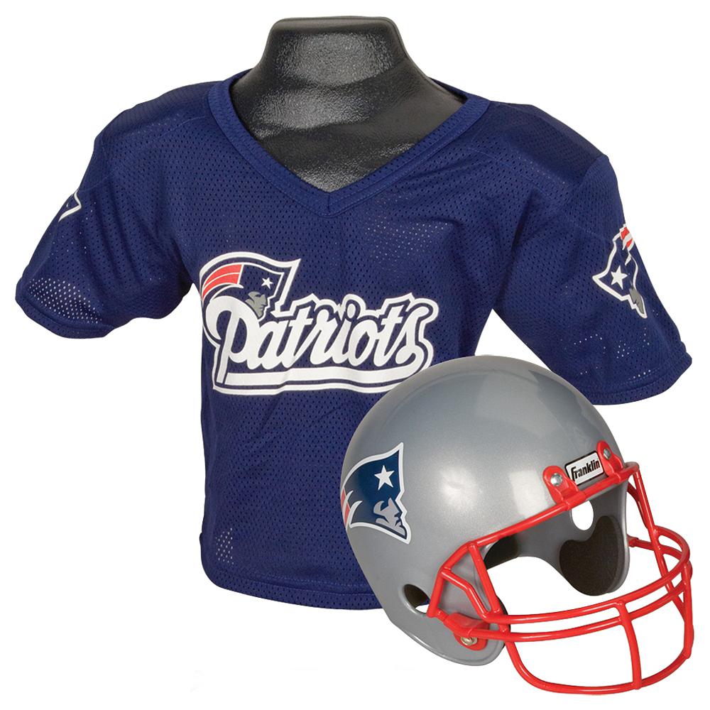 Child New England Patriots Helmet & Jersey Set Image #1