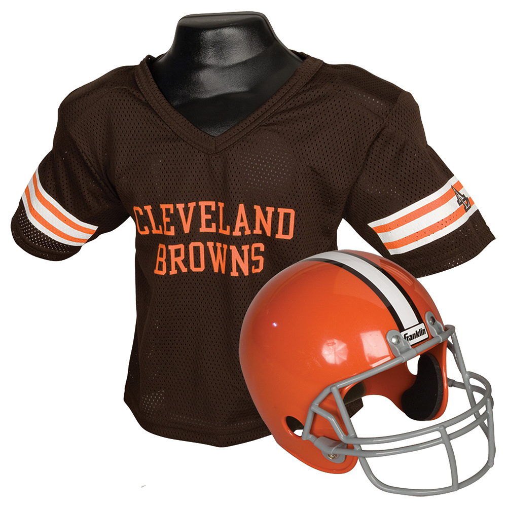 Nav Item for Child Cleveland Browns Helmet & Jersey Set Image #1
