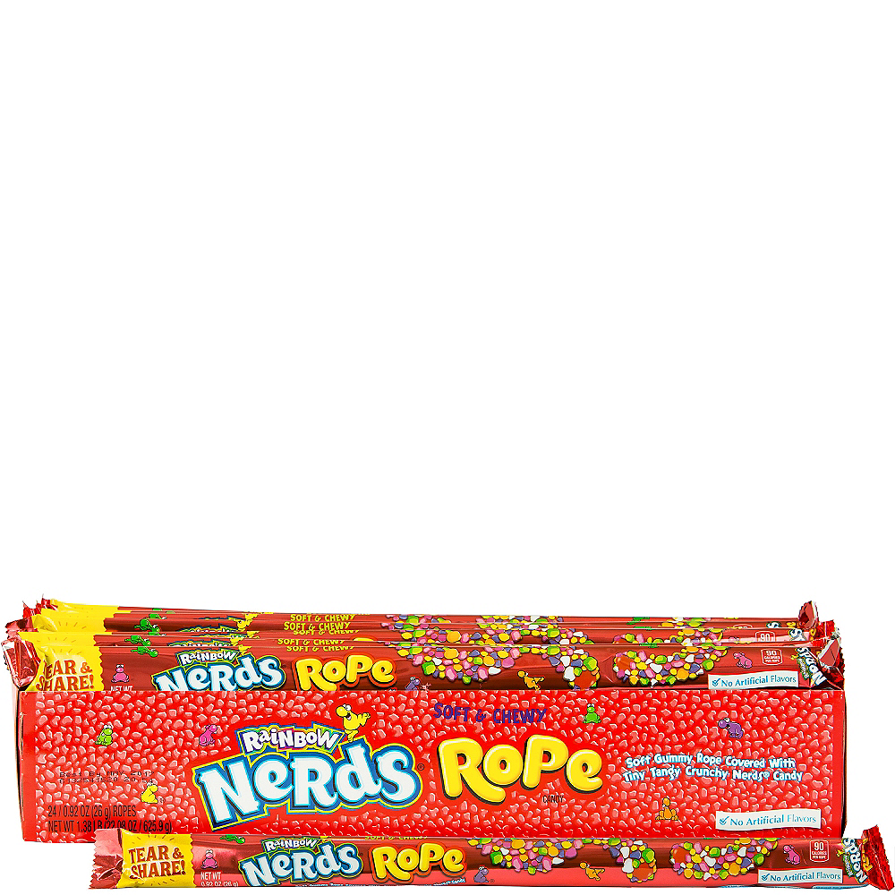 Rainbow Nerds Rope Candy 24pc Image #1