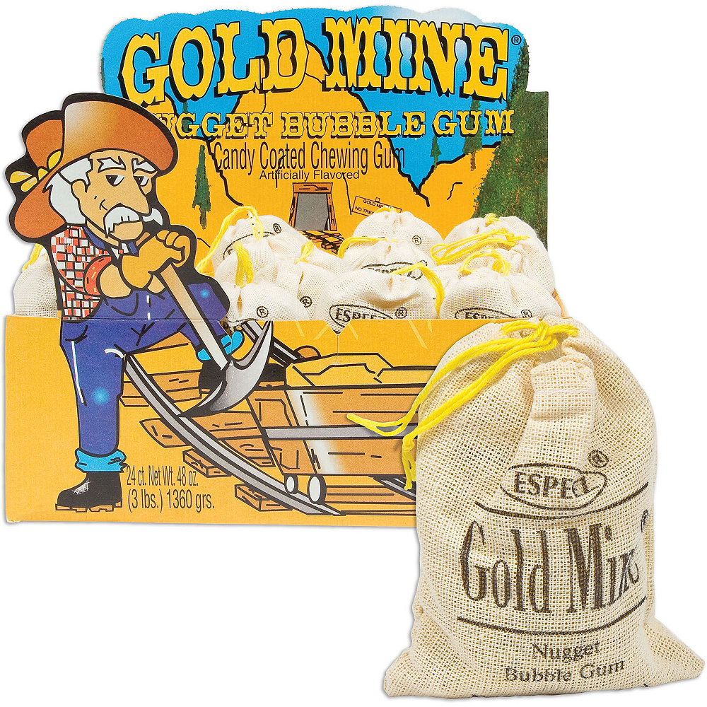 Gold Mine Bubble Gum 24ct Image #2