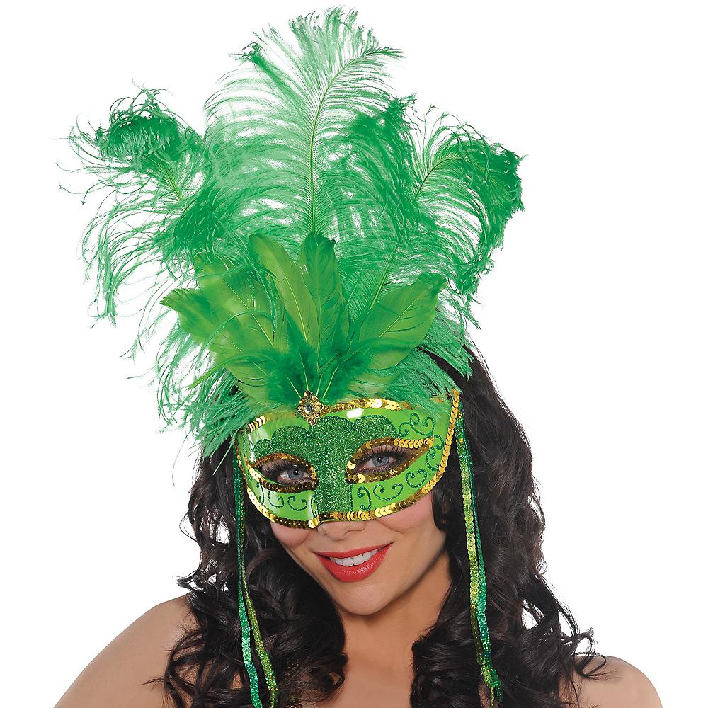 St. Patrick's Day Masquerade Mask Image #2