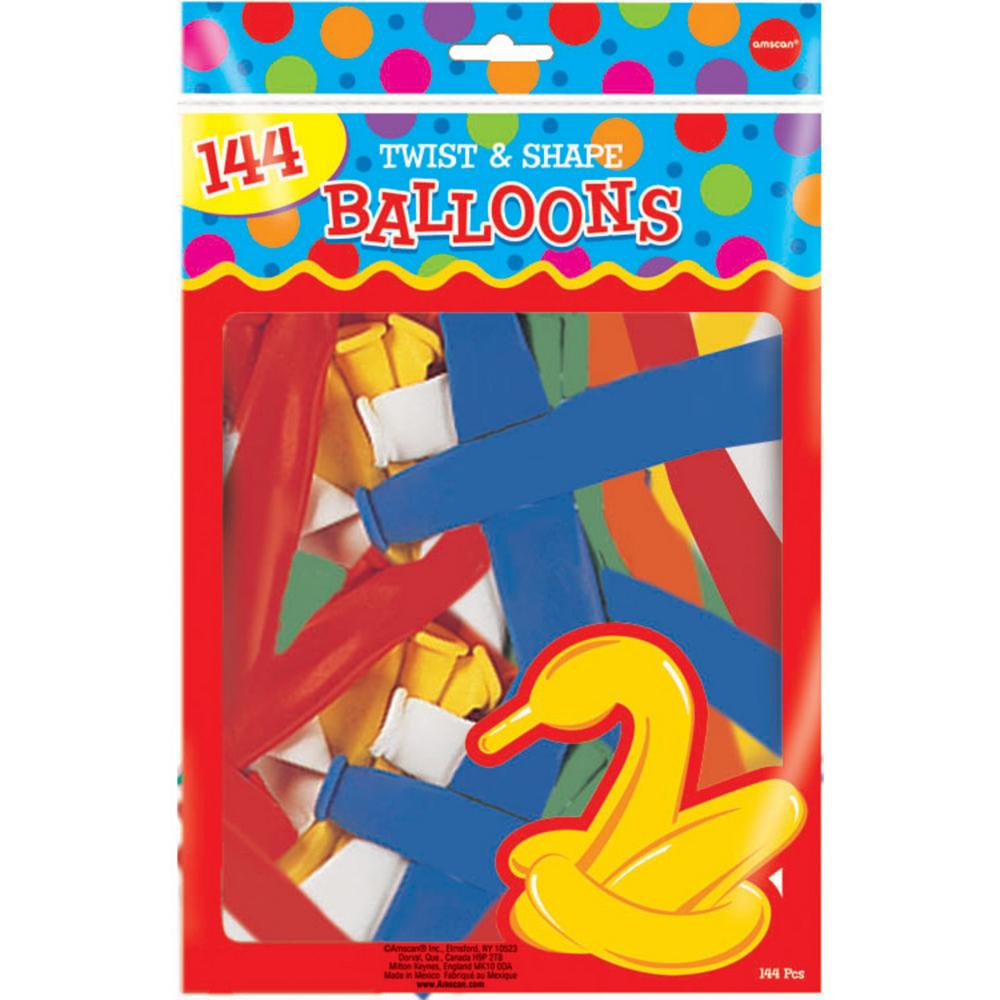 Animal Twist & Shape Balloons 144ct Image #1
