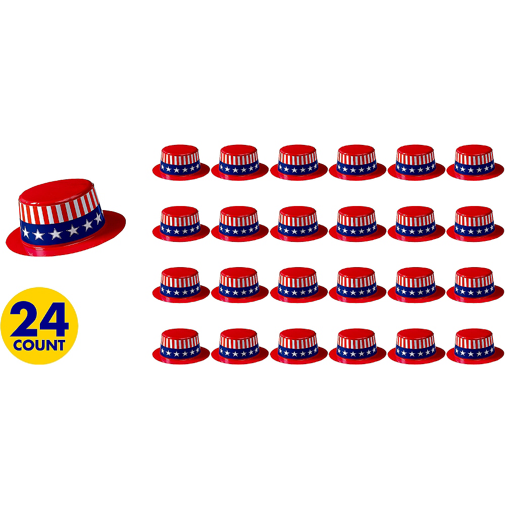Mini Uncle Sam Hats 24ct Image #1