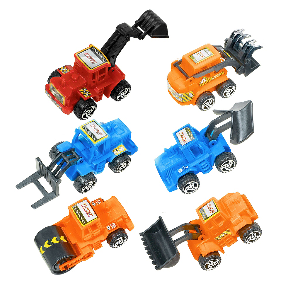 Pull Back Construction Vehicles 6ct Image #1