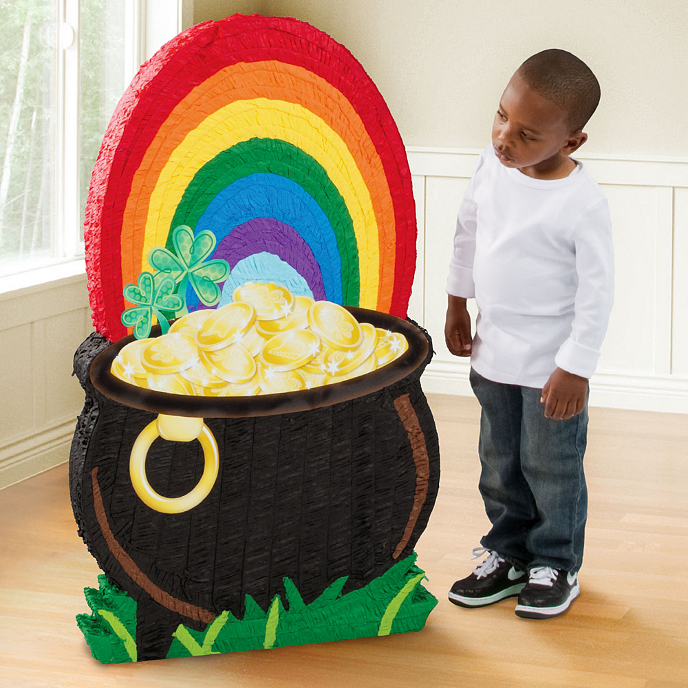 Giant St. Patrick's Day Pot Of Gold Pinata Image #2