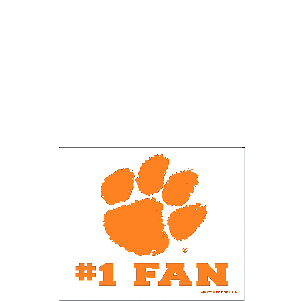 Clemson Tigers #1 Fan Decal Image #1