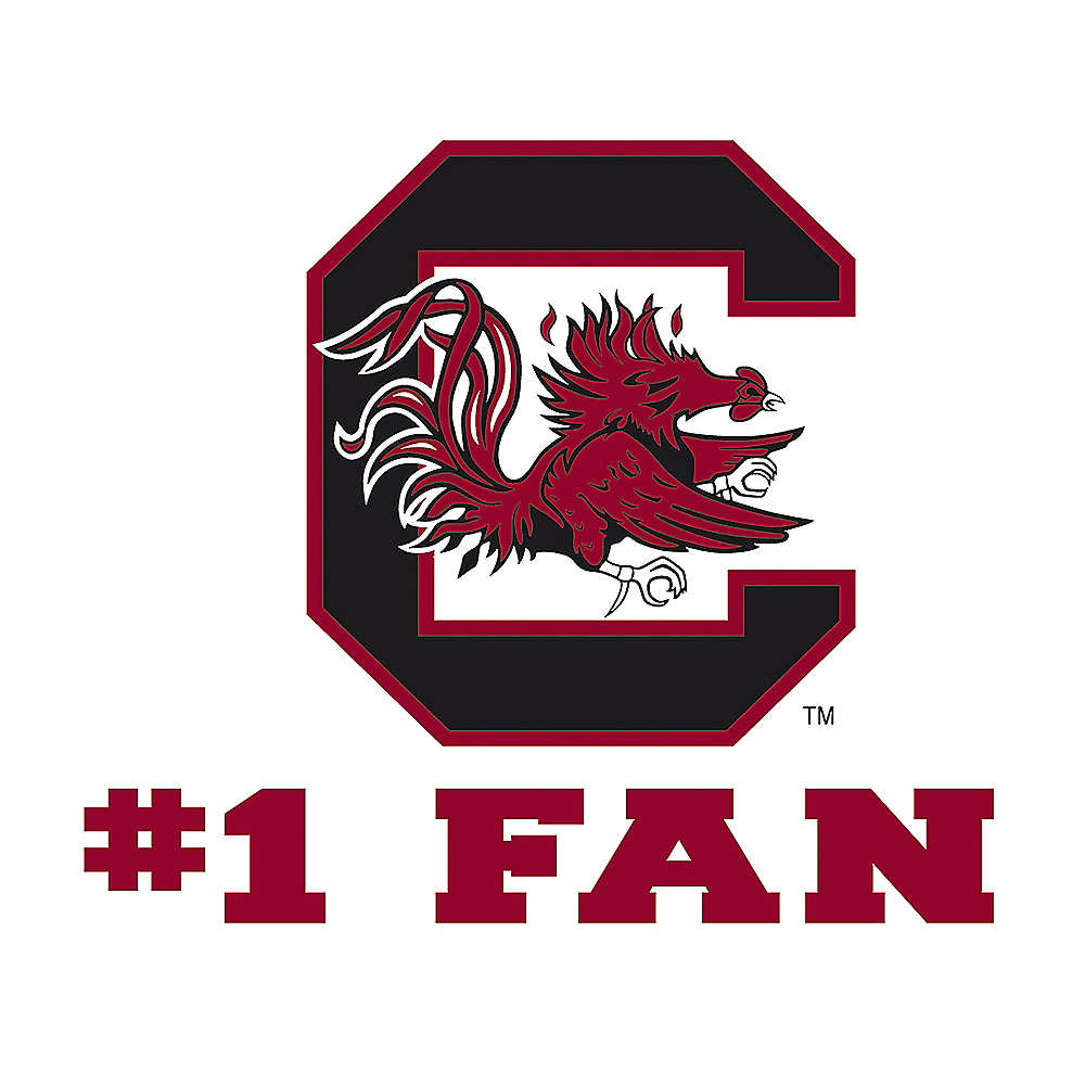 South Carolina Gamecocks #1 Fan Decal Image #1