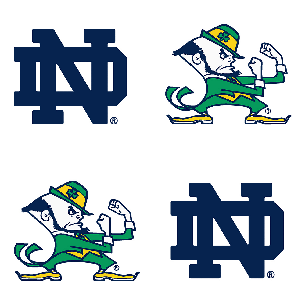 Notre Dame Fighting Irish Face Decals 4ct Image #1