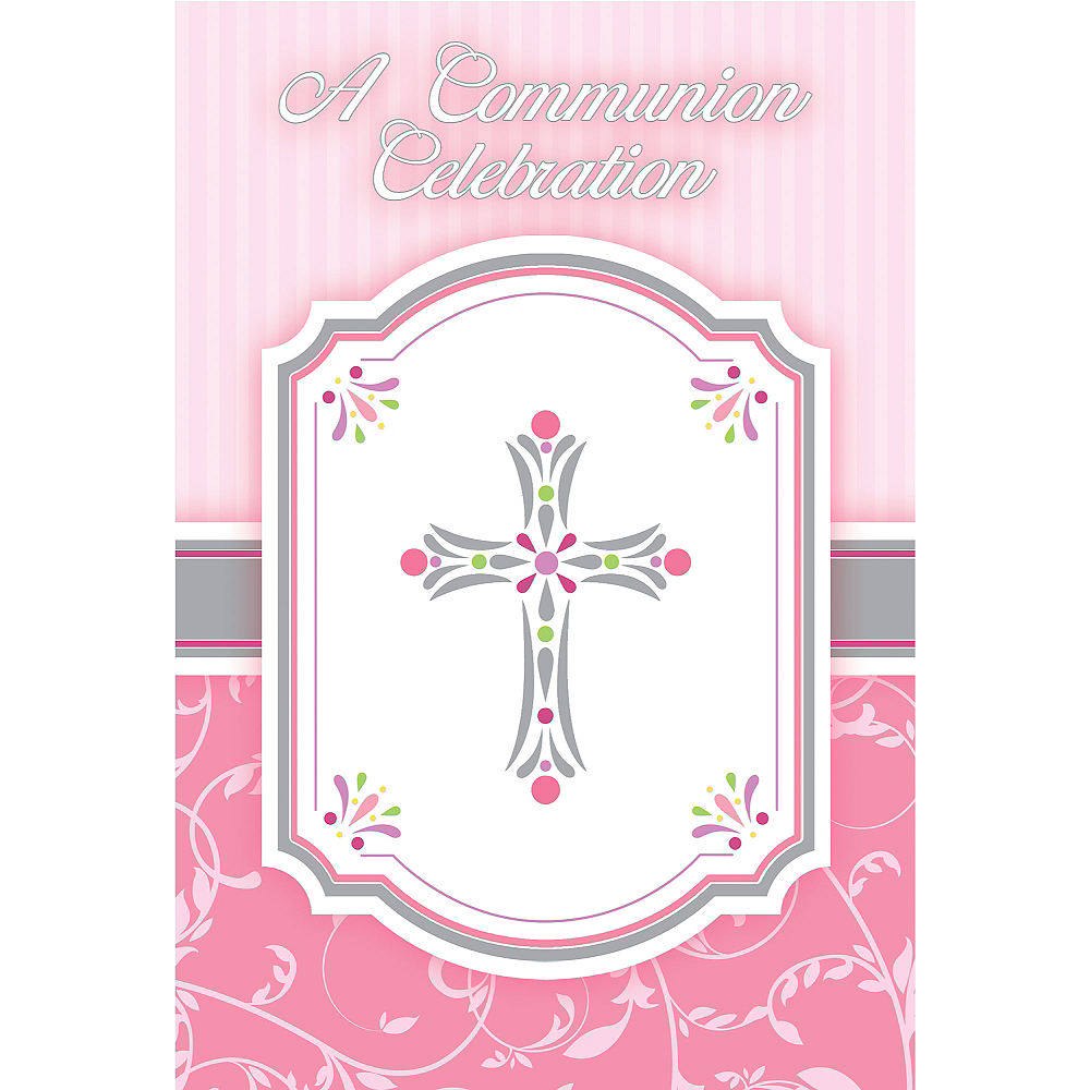 Girl's Communion Blessings Postcard Invitations 20ct Image #1