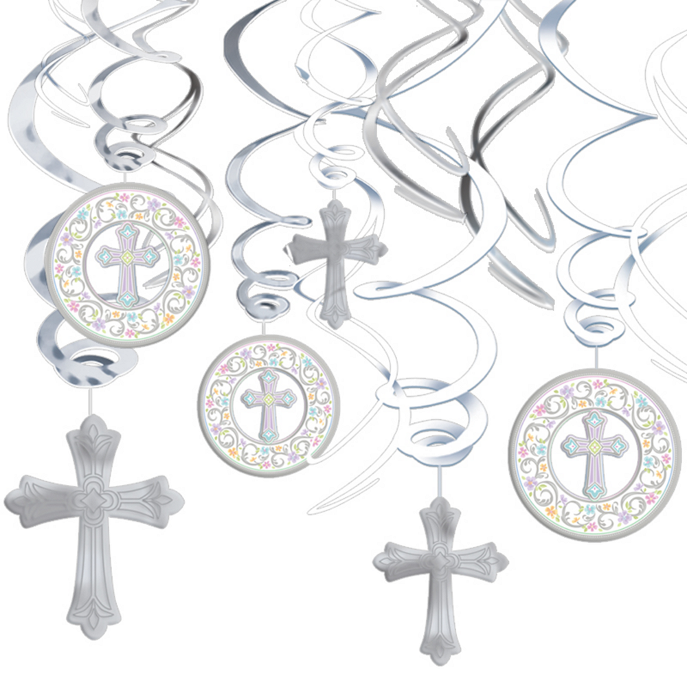 Blessed Day Hanging Swirl Decorations 12ct Image #1