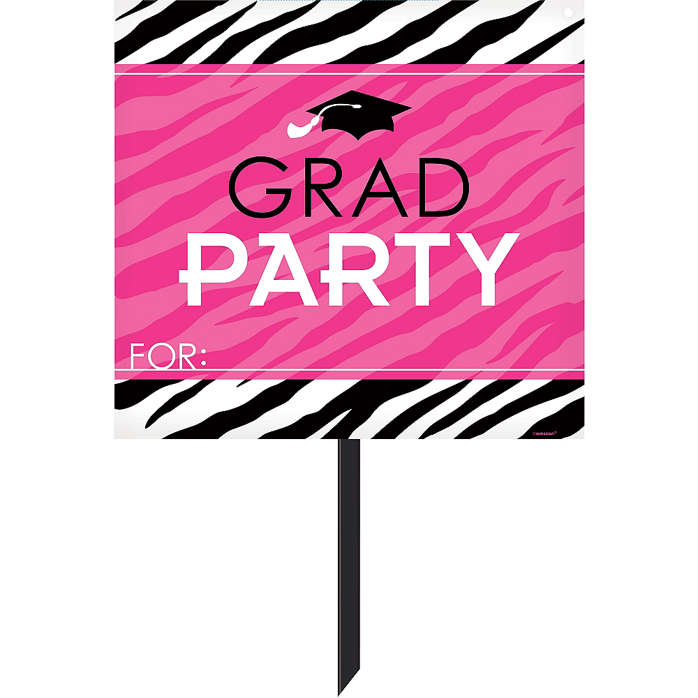 Nav Item for Zebra Party Graduation Yard Sign Image #1