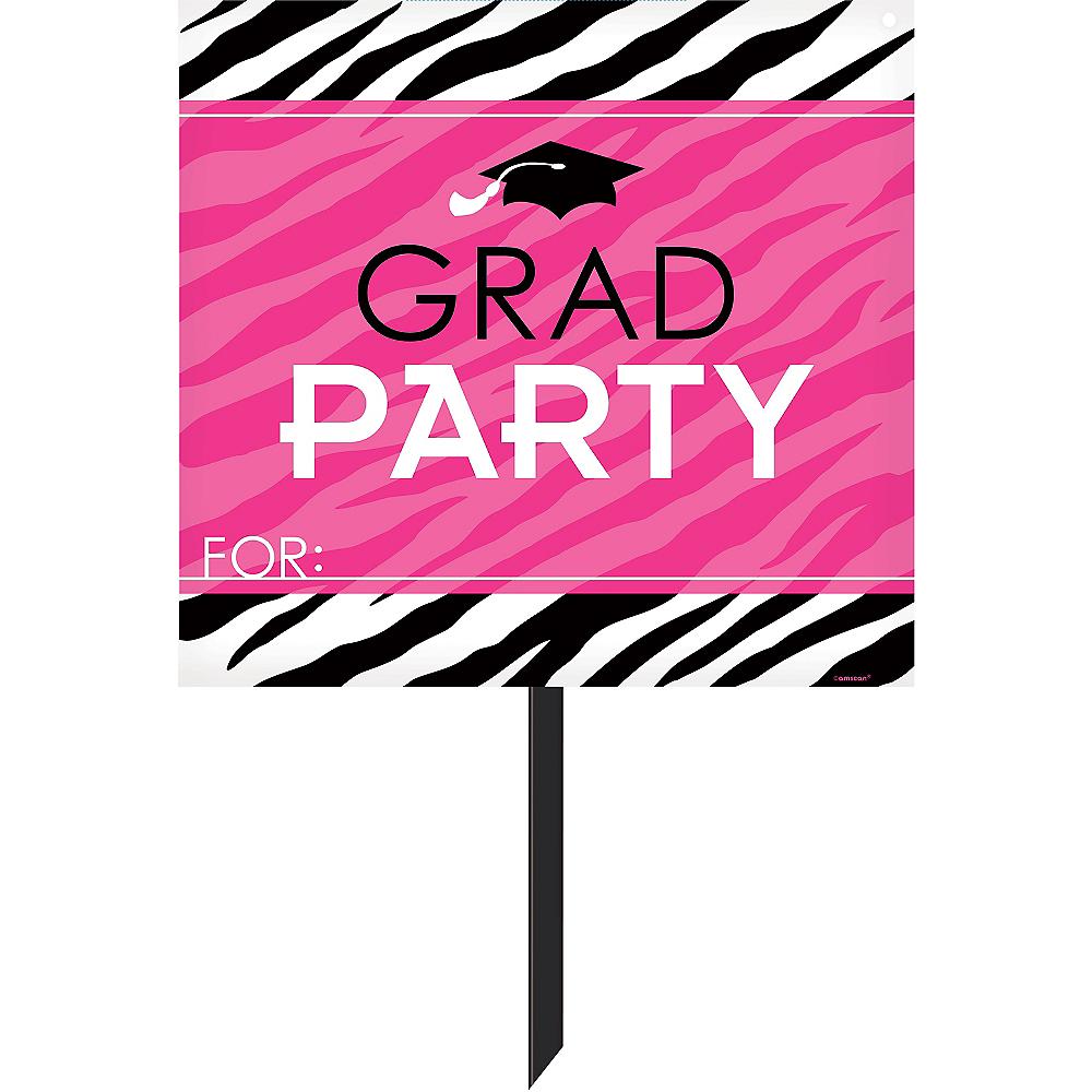 Zebra Party Graduation Yard Sign Image #1
