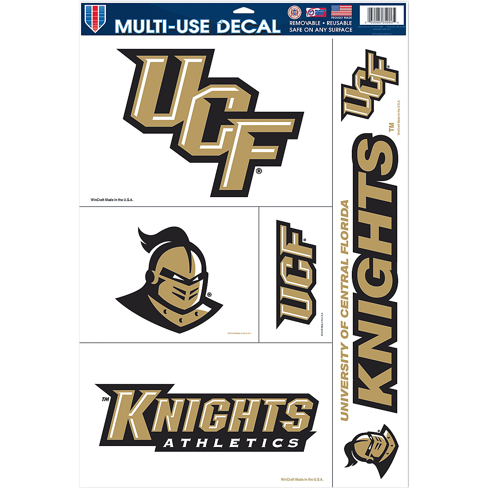 UCF Knights Cling Decals 5ct Image #1
