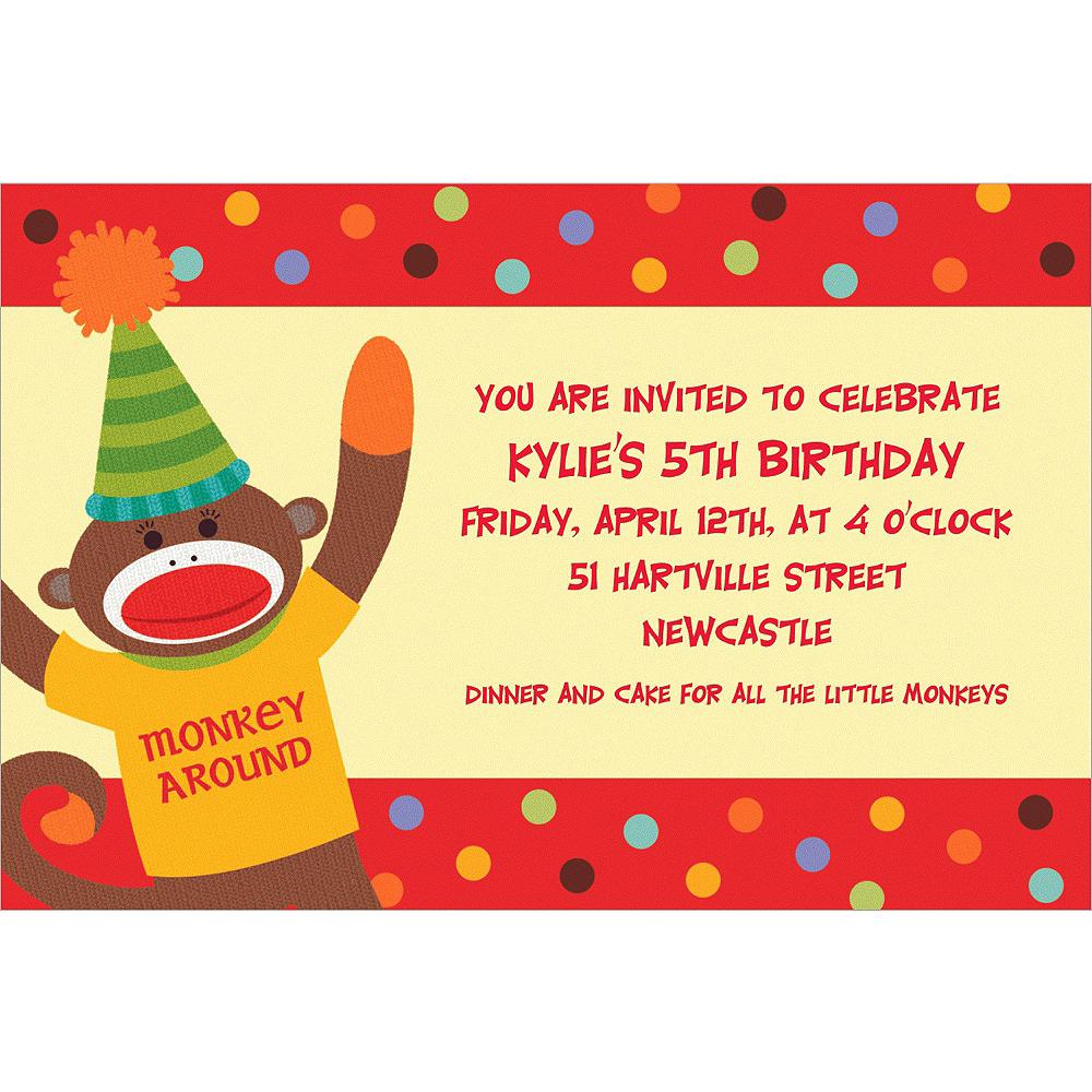 Custom Monkey Party Invitations Image #1