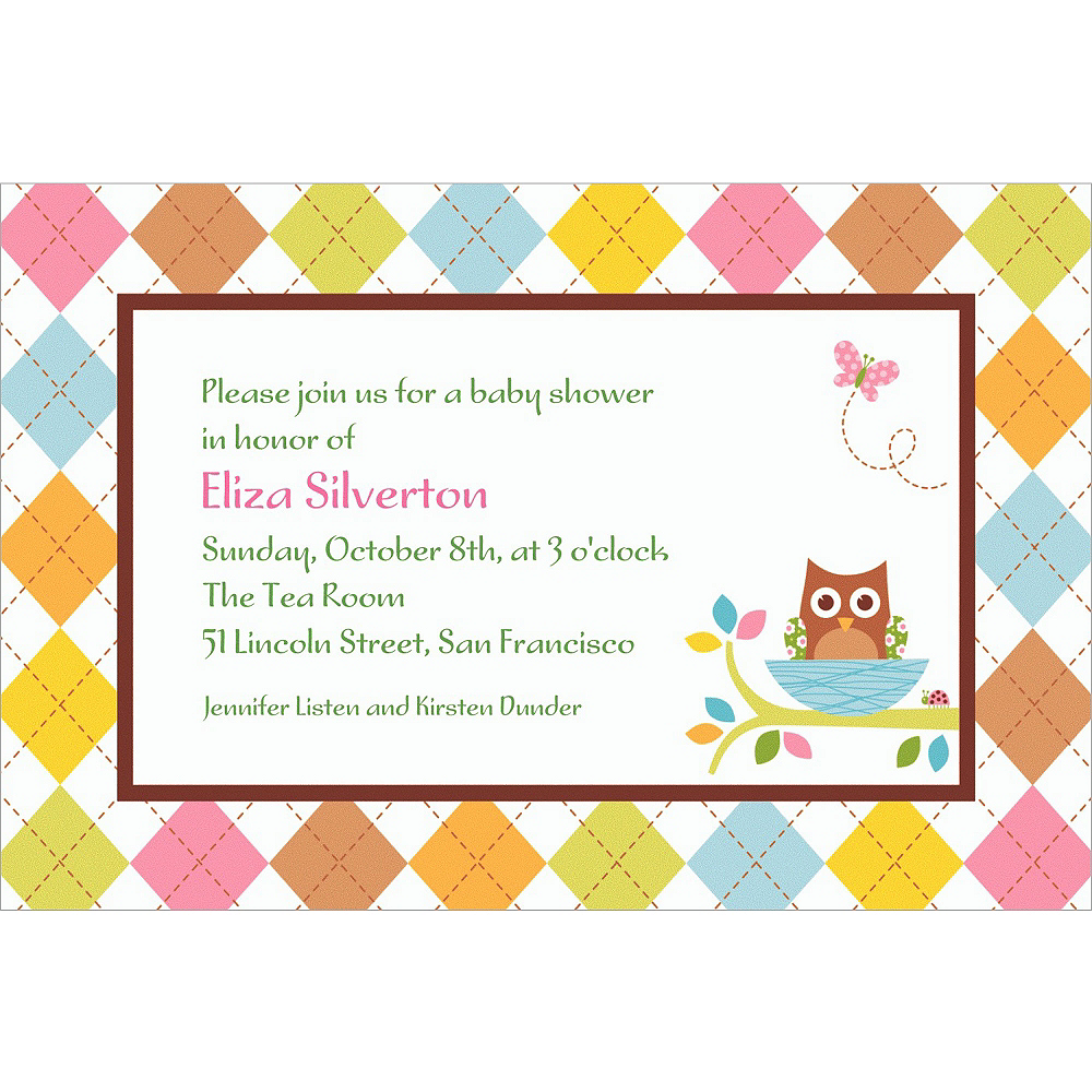 Custom Whoo Loves You Baby Shower Invitations Image #1