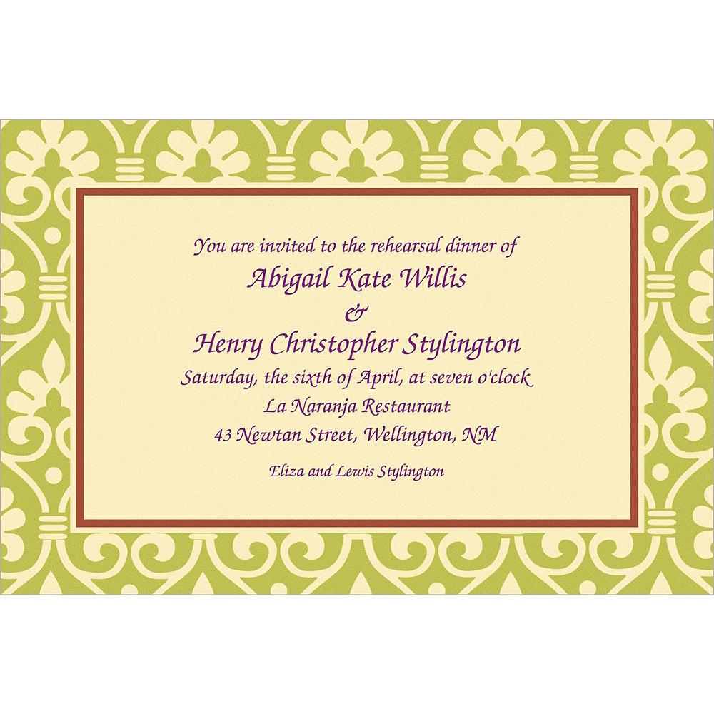 custom natural damask invitations party city