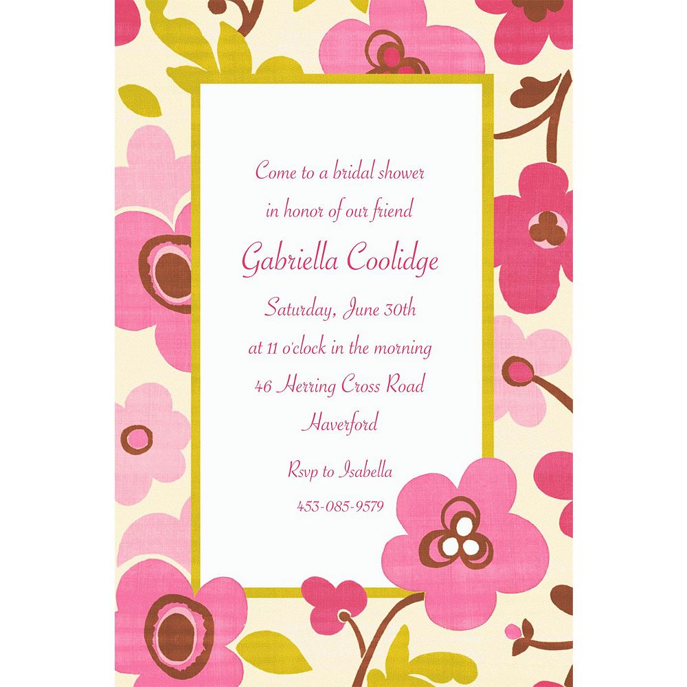 Custom Linen Floral Invitations Image #1