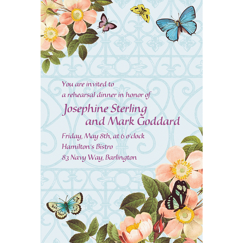 Custom Butterfly Dreams Wedding Invitations Party City