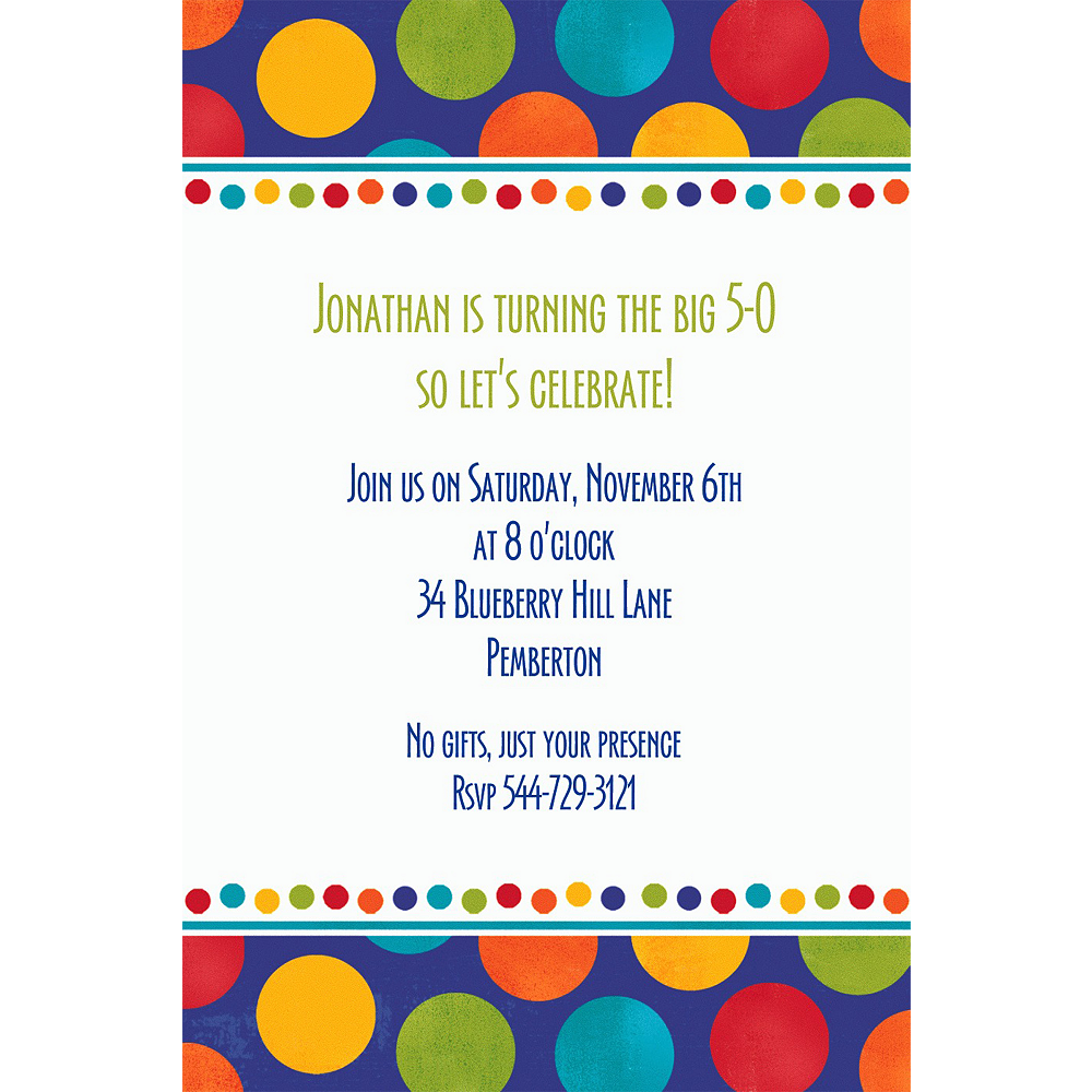 Custom Birthday Fever Fun Invitations Image #1