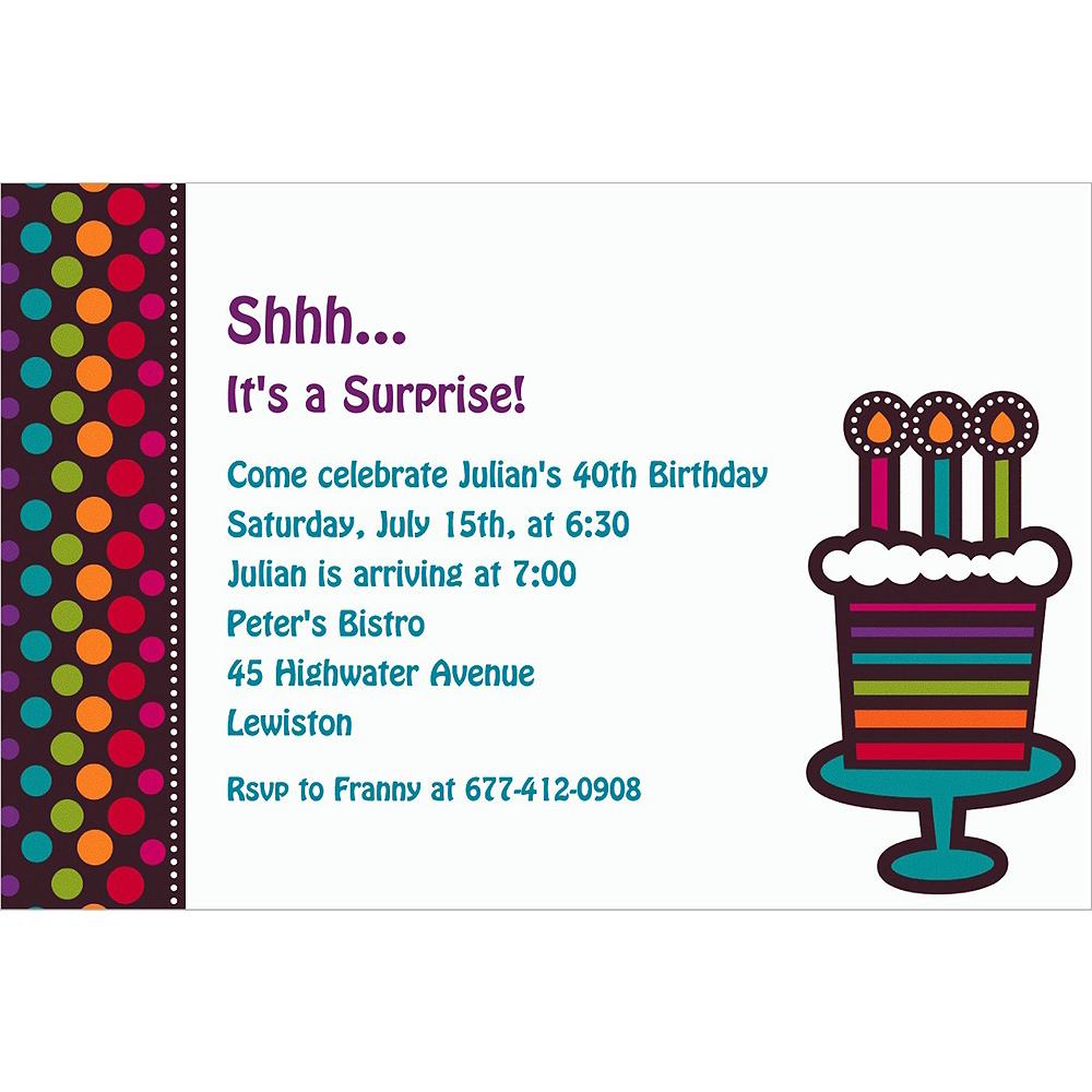 Custom Party On Celebration Invitations Image #1