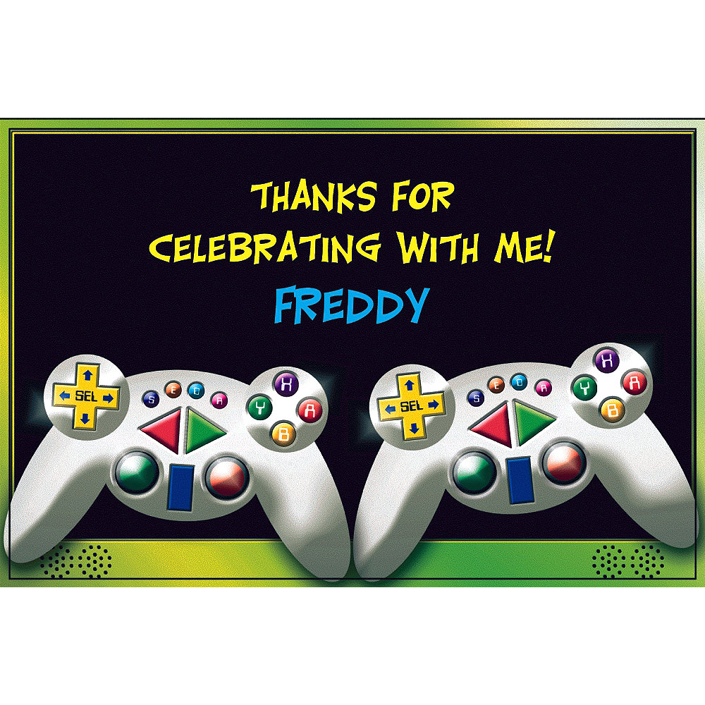 Custom Video Game Thank You Notes Image #1