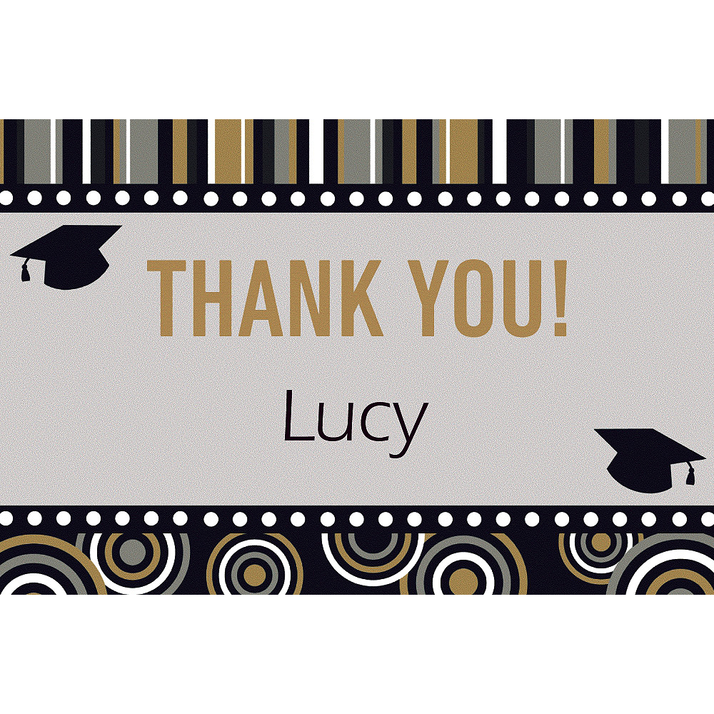 Custom Grad Inspiration Thank You Notes    Image #1