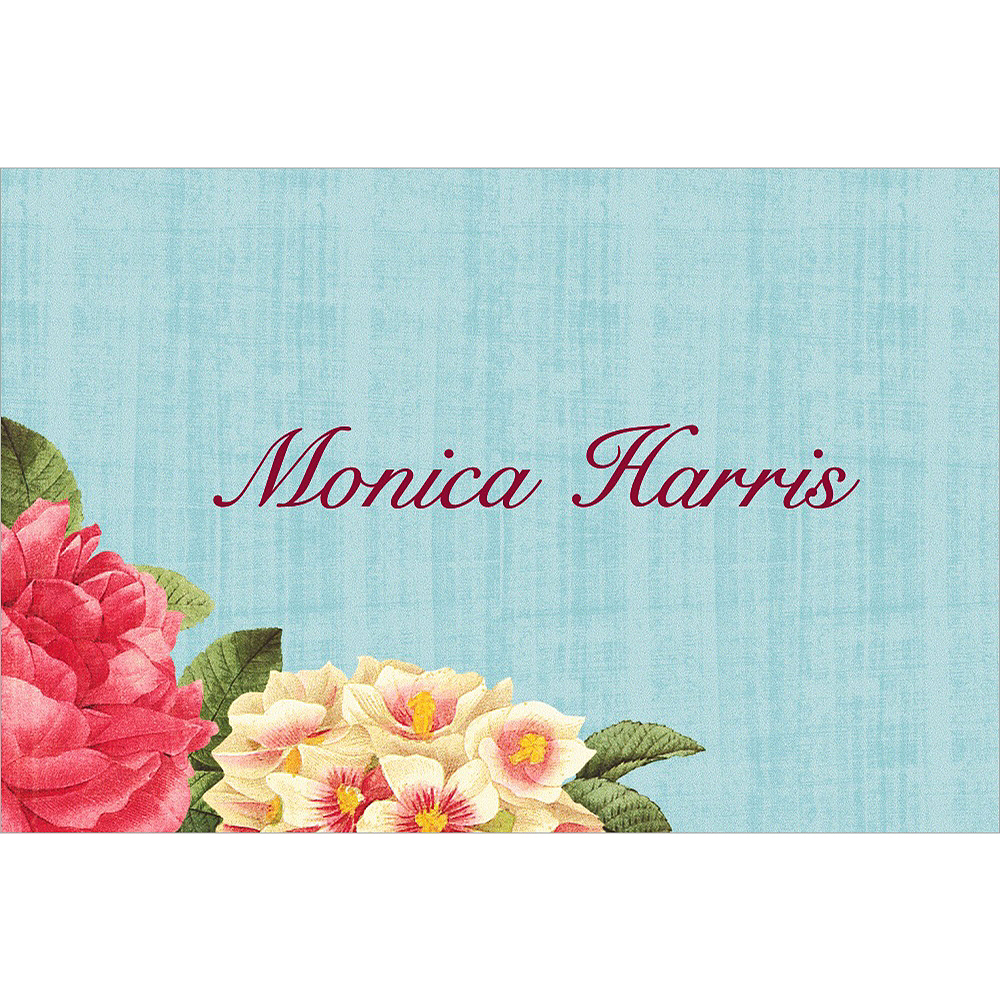 Custom Blissful Blooms Wedding Thank You Notes Image #1