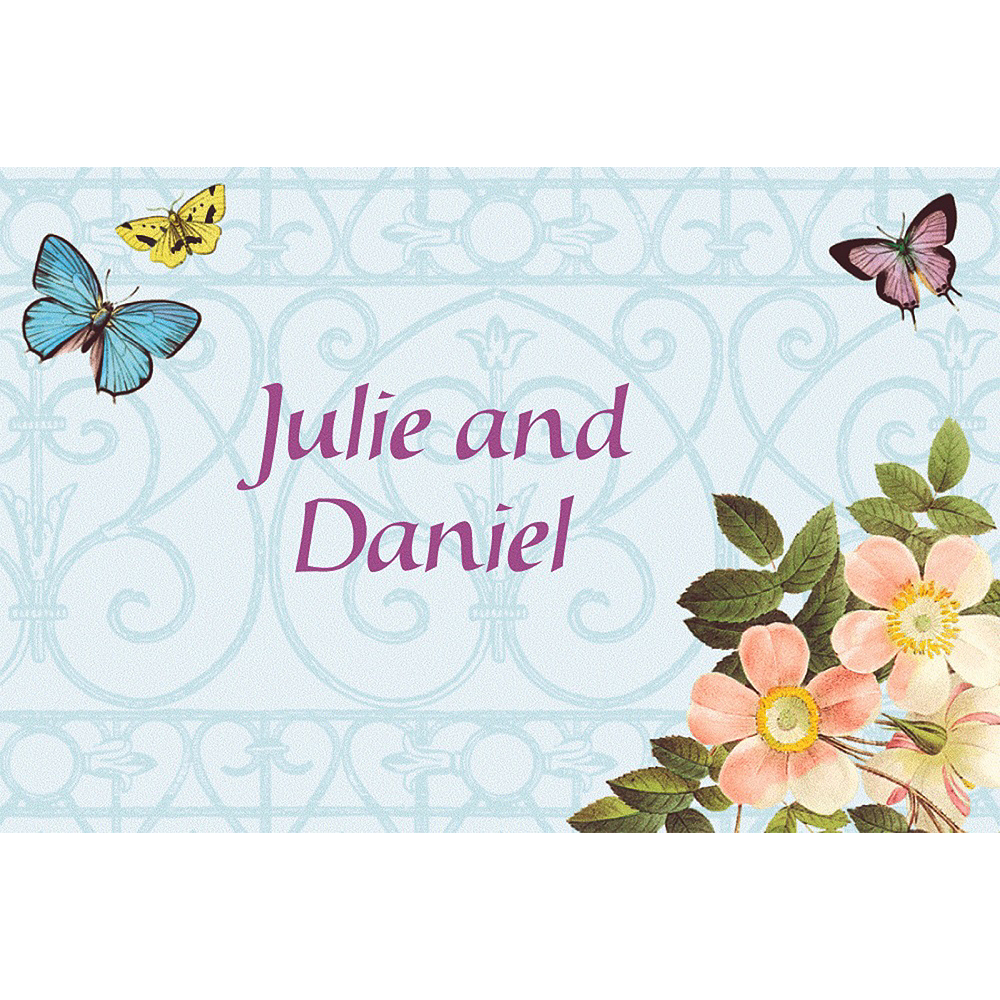 Custom Butterfly Dreams Wedding Thank You Notes Image #1