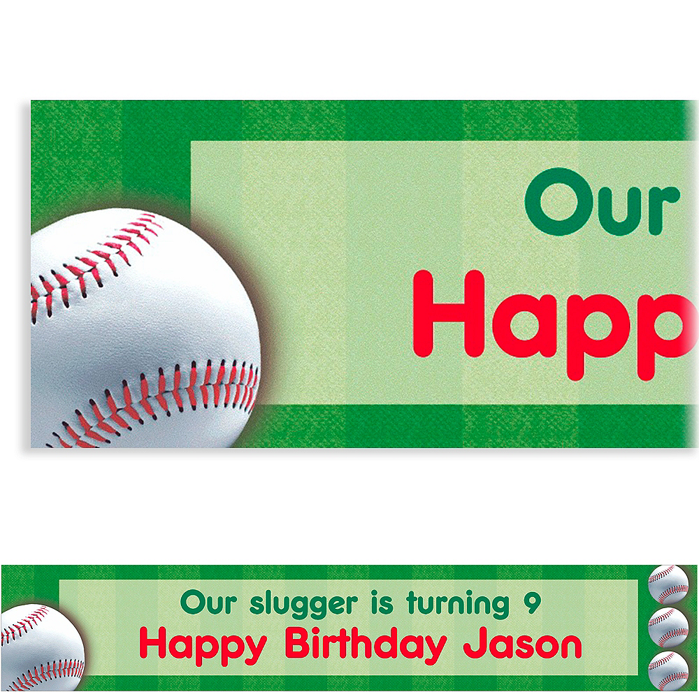 Custom Baseball Fun Banner 6ft Image #1